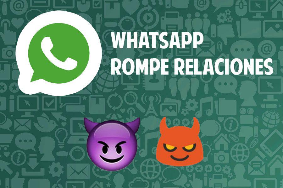 whatsapp rompe relaciones